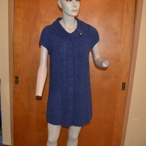 Style & Co Blue Knit Sweater Dress Size M